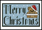 Merry Christmas Card - Cross Stitch Chart