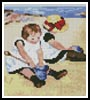 Mini Children Playing on the Beach - Cross Stitch Chart