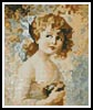 Mini Girl Holding a Nest - Cross Stitch Chart