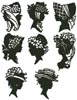 Mini Lady Silhouettes - Cross Stitch Chart
