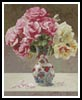 Mini Roses in an Oriental Vase - Cross Stitch Chart