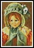 Mini Sara in a Green Bonnett - Cross Stitch Chart