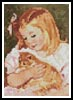 Mini Sara holding a Cat - Cross Stitch Chart