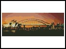 Mini Sydney Harbour at Night - Cross Stitch Chart