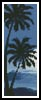 Moonlight with Palm Trees Bookmark - Cross Stitch Chart
