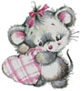 Mouse with Heart - Cross Stitch Chart