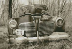 Old Car (Sepia) - Cross Stitch Chart