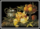 Still life of Oranges and Lemons - Cross Stitch Chart