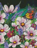 Pink Cosmos (Crop) - Cross Stitch Chart