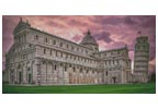 Pisa Cathedral at Sunrise - Cross Stitch Chart
