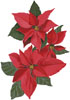 Poinsettia Flowers - Cross Stitch Chart