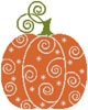 Pumpkin Swirl - Cross Stitch Chart