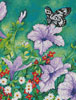 Purple Petunias (Crop) - Cross Stitch Chart