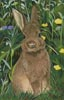 Rabbit Painting - Cross Stitch Chart