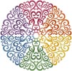 Rainbow Circle - Cross Stitch Chart
