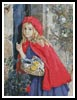 Red Riding Hood at Grandmothers Door - Cross Stitch Chart