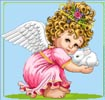 Cherub and Bunny - Cross Stitch Chart