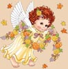 Cherub, Celebrating the Autumn - Cross Stitch Chart