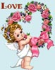 Cherub and Flower Wreath - Cross Stitch Chart