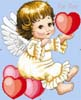 Cherub, This Heart's for You - Cross Stitch Chart