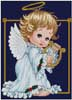 Christmas Angels Harp - Cross Stitch Chart