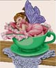 Li'l Fairy, Sleeping in a Teacup - Cross Stitch Chart