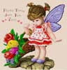 Little Fairy, Her Harvest of Spring - Cross Stitch Chart
