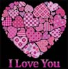 I Love You, Hearts Sampler - Cross Stitch Chart