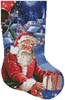 Santa in a Hot Air Balloon Stocking (Right) - Cross Stitch Chart