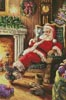 Santa Resting - Cross Stitch Chart