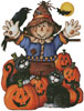 Scarecrow's Halloween Pumpkin Patch(No Back) Cross Stitch Chart