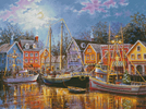 Ships Aglow - Cross Stitch Chart