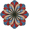 Stained Glass Flower (Blue) - Cross Stitch Chart