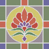 Stained Glass Square 3 - Cross Stitch Chart