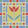 Stained Glass Square 6 - Cross Stitch Chart