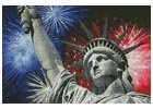 Statue of Liberty with Fireworks - Cross Stitch Chart