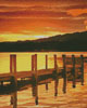 Sunset Dock (Crop) - Cross Stitch Chart
