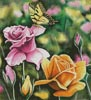 Tiger Swallow Tail in Rose Garden - Cross Stitch Chart
