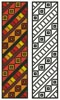 Tribal Bookmark - Cross Stitch Chart