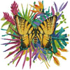 Tropical Butterfly 3 - Cross Stitch Chart