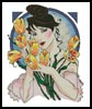 Tulip Lady - Cross Stitch Chart