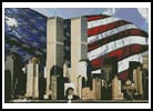 Twin Towers and Flag - Cross Stitch Chart