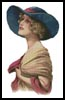 Victorian Blue Hat - Cross Stitch Chart