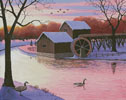 Winter at the Old Grist Mill - Cross Stitch Chart