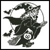 Witch Silhouette 2 - Cross Stitch Chart