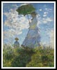 Woman with a Parasol - Cross Stitch Chart