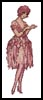Flower Lady 2 - Cross Stitch Chart